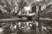 Canvasschilderij - Bridge in Central Park, New York, USA