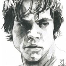 Canvastavla - Star Wars - Luke Skywalker Graphite
