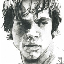 Fototapet - Star Wars - Luke Skywalker Graphite