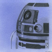 Fototapet - Star Wars - R2-D2 Blue Graphite