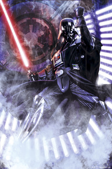 Lerretsbilde - Star Wars - Darth Vader Lightsaber