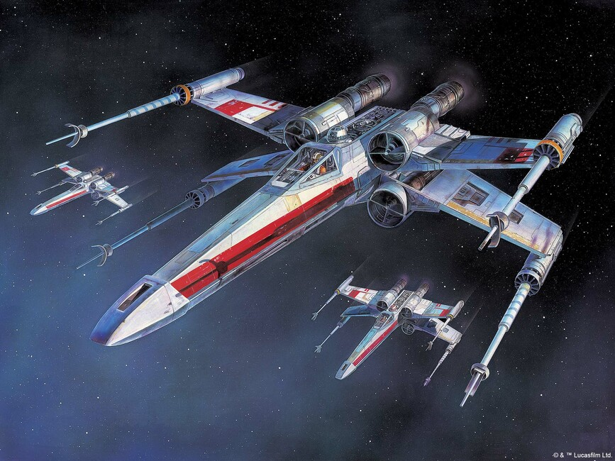 star wars x wing starfighters wall mural photo. Black Bedroom Furniture Sets. Home Design Ideas