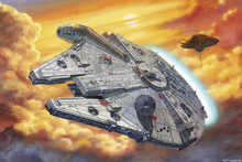 Lerretsbilde - Star Wars - Millennium Falcon Clouds