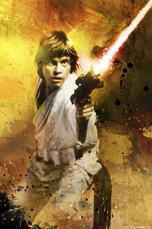 Canvastavla - Star Wars - Luke Skywalker Blaster