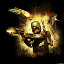 Canvas print - Star Wars - Boba Fett Blaster