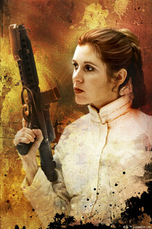 Canvastavla - Star Wars - Princess Leia Blaster
