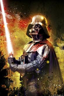 Canvastavla - Star Wars - Darth Vader Lightsaber Colour