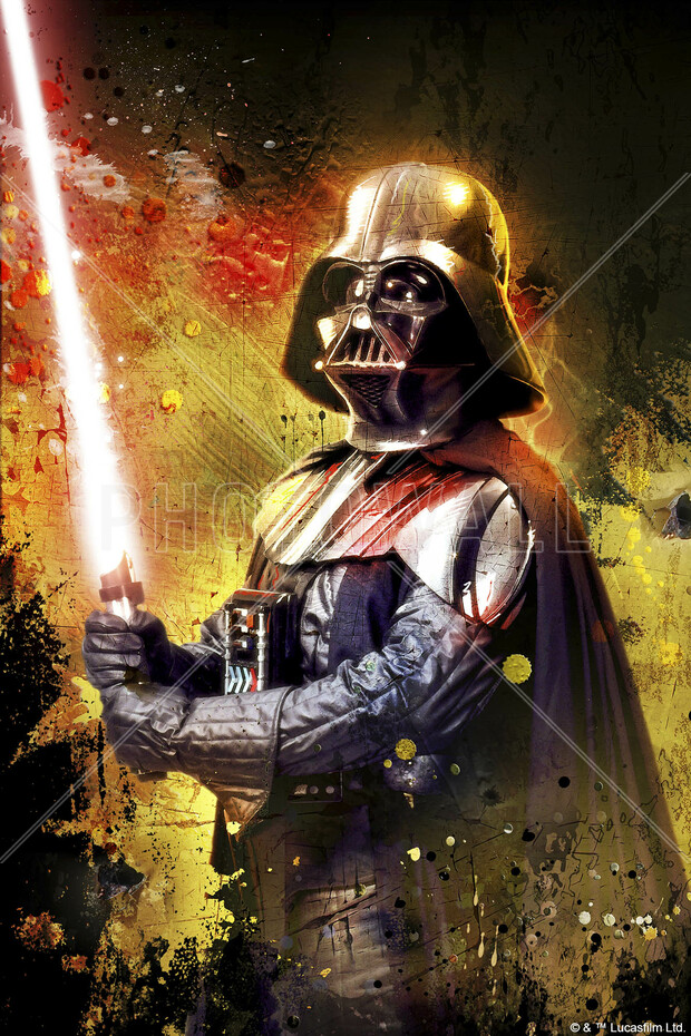 Star Wars Darth Vader Lightsaber Colour Canvas Print