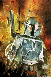 Canvas print - Star Wars - Boba Fett Colour