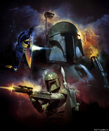 Lerretsbilde - Star Wars - Boba Fett Space