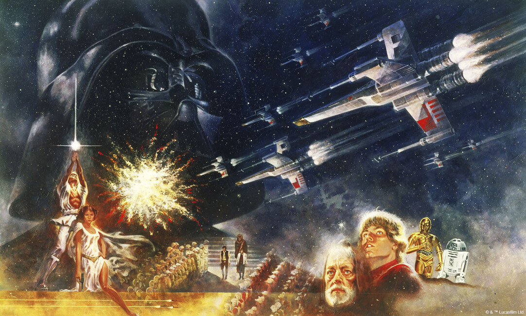 Star wars poster 4 wall mural photo wallpaper for Poster mural 4 murs