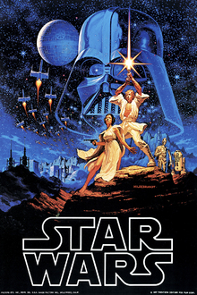 Canvastavla - Star Wars - Blue Sky Poster
