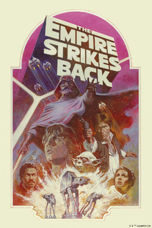 Canvastavla - Star Wars - Empire Strikes Back Pink