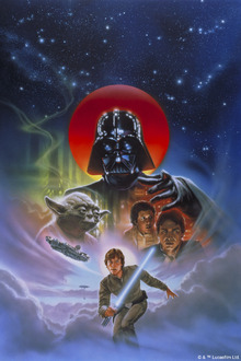 Wall mural - Star Wars - Luke Skywalker on Clouds