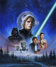 Canvastavla - Star Wars - ST Walker Poster