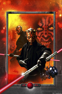 Canvastavla - Star Wars - Darth Maul Lightsaber Red