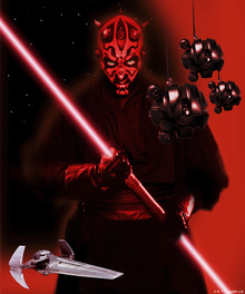 Fototapet - Star Wars - Darth Maul and Sith Probe Droids