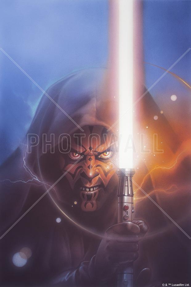 Star Wars - Darth Maul Lightsaber Blue - Canvas Print & Canvas Art - Photowall