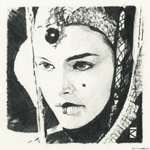 Wall mural - Star Wars - Padme Amidala Graphite
