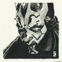 Canvastavla - Star Wars - Darth Maul Graphite