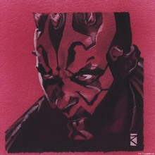 Canvas print - Star Wars - Darth Maul Red Graphite