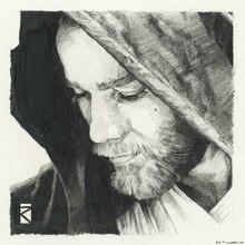 Canvastavla - Star Wars - Obi-Wan Kenobi Graphite