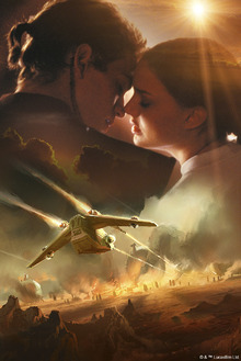 Fototapet - Star Wars - Anakin Skywalker and Padme Amidala Sunshine