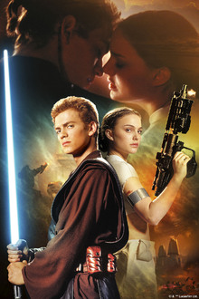 Fototapet - Star Wars - Anakin Skywalker and Padme Amidala Weapons