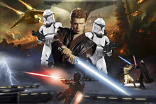 Fototapet - Star Wars - Anakin Skywalker and Clone Troopers