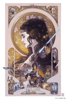 Wall mural - Star Wars - Anakin Skywalker and Padme Amidala Artwork