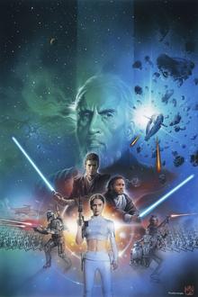 Canvastavla - Star Wars - Blue Space Collage