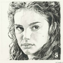 Wall mural - Star Wars - Padme Amidala Graphite 2
