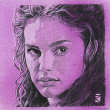 Wall mural - Star Wars - Padme Amidala Purple Graphite 2