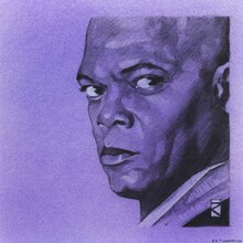 Wall mural - Star Wars - Mace Windu Purple Graphite