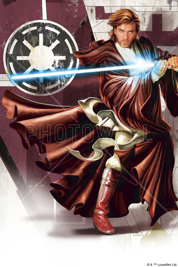 Star Wars Obi Wan Kenobi Lightsaber Canvas Print Amp Canvas Art Photowall