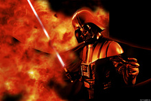 Wall mural - Star Wars - Darth Vader Explosion 2