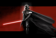 Fototapet - Star Wars - Darth Vader Red