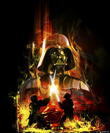 Wall mural - Star Wars - Darth Vader Yellow