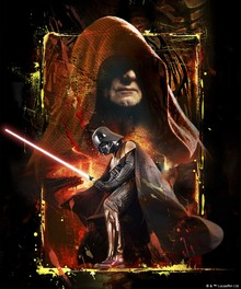 Canvastavla - Star Wars - Palpatine and Darth Vader