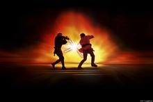 Canvastavla - Star Wars - Lightsaber Fight