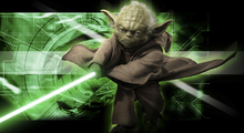 Fototapet - Star Wars - Yoda Green 1