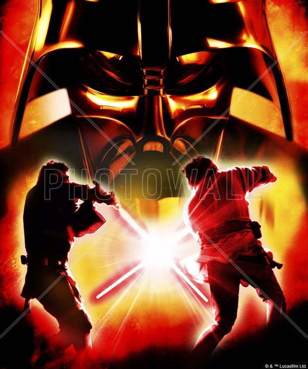 Star Wars Lightsaber Fight Explosion Wall Mural Amp Photo Wallpaper Photowall