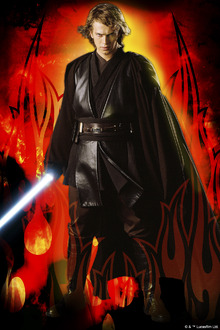 Fototapet - Star Wars - Anakin Skywalker Flames