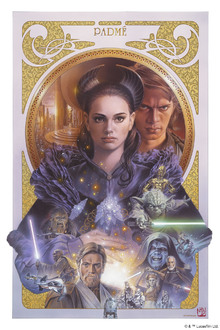 Fototapet - Star Wars - Padme Amidala Artwork