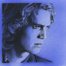 Wall mural - Star Wars - Anakin Skywalker Blue Graphite