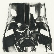 Canvastavla - Star Wars - Darth Vader Graphite
