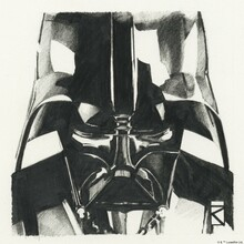 Canvastavla - Star Wars - Darth Vader Graphite