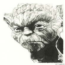 Wall mural - Star Wars - Yoda Graphite