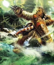 Canvas-taulu - Star Wars - Chewbacca with Shield