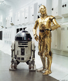 Canvas-taulu - Star Wars - R2-D2 and C-3PO Interiors